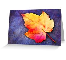 A Colorful Fall Memory Greeting Card