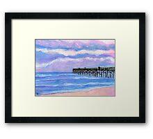 Flagler Beach Pier' Framed Print