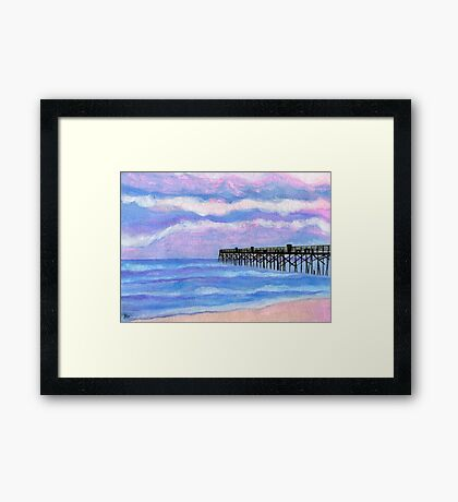 Flagler Beach Pier Framed Print