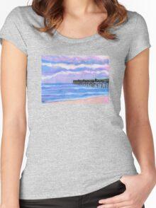 Flagler Beach Pier' Women's Fitted Scoop T-Shirt