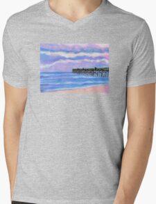 Flagler Beach Pier' Mens V-Neck T-Shirt