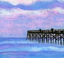 Flagler Beach Pier' Sticker
