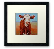 Calf Stare Framed Print