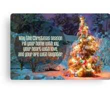 Snowy Tree Christmas Card Canvas Print