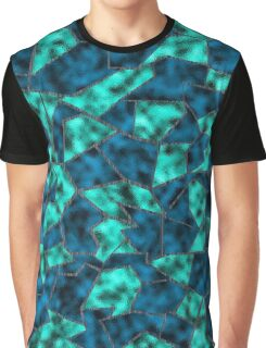 Stained Glass Smoky Blue Graphic T-Shirt