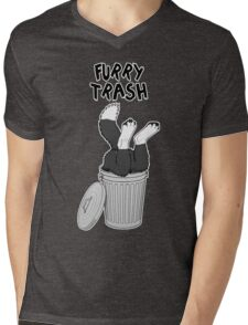 Furry Trash - Border Collie Mens V-Neck T-Shirt