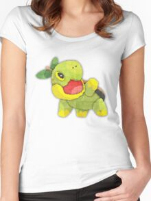 pokemon - turtwig Women's Fitted Scoop T-Shirt