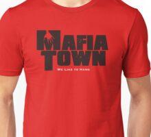 Mafia Town Logo (Black/White) Unisex T-Shirt