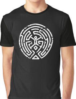 Westworld Maze Distressed Graphic T-Shirt