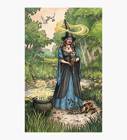 Everyday Witch Tarot - Ace of Cups Photographic Print