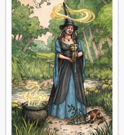 Everyday Witch Tarot - Ace of Cups Sticker