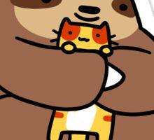 Sloth Love Cats Sticker