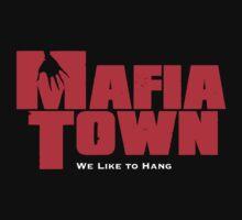 Mafia Town Logo (Red/White) by MafiaTown