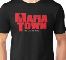 Mafia Town Logo (Red/White) Unisex T-Shirt