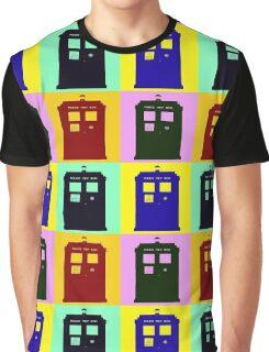 TARDIS Pop Art Graphic T-Shirt