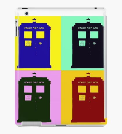 TARDIS Pop Art iPad Case/Skin