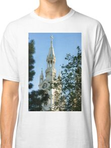 Saints Peter and Paul Church White Glow Through the Trees Classic T-Shirt