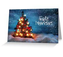 Cute Tree Christmas Card - Feliz Navidad Greeting Card