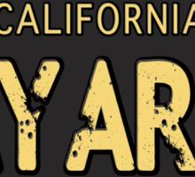 Bay Area California Old School Sticker