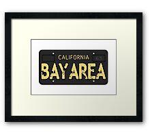 Bay Area California Old School Framed Print