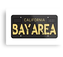 Bay Area California Old School Metal Print
