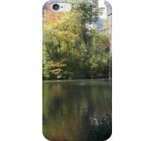 Reflection in Lake, Central Park South, New York City iPhone Case/Skin