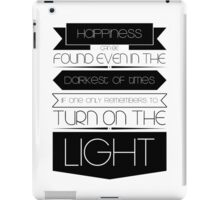 Happiness (Black) iPad Case/Skin