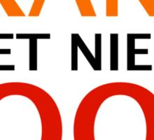 Oranje is het Nieuwe Rood Sticker