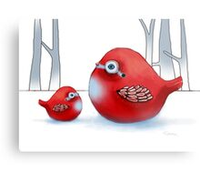 Little Red Robins Metal Print
