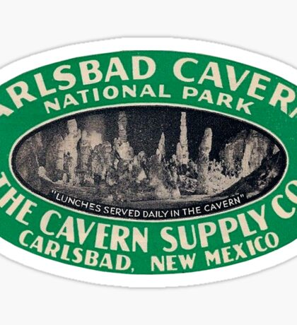 Carlsbad Caverns National Park New Mexico Vintage Travel Decal Sticker