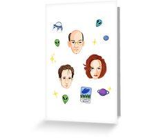 X Files - FBI Agents Greeting Card