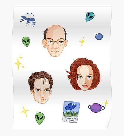 X Files - FBI Agents Poster