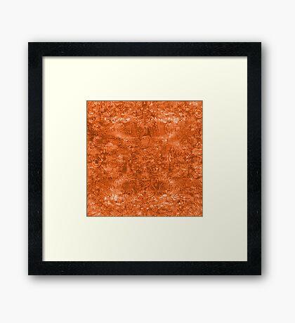 ironic chaos - (orange) Framed Print