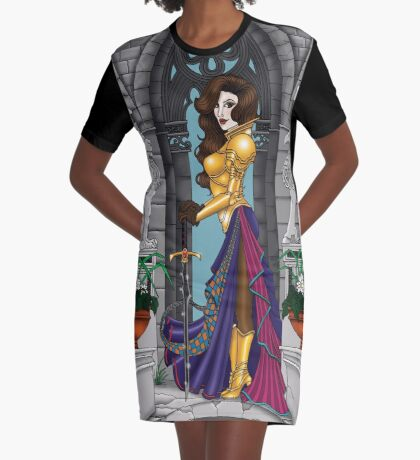 Warrior Woman Graphic T-Shirt Dress