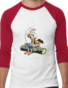 lucky luke and billy the kid Men's Baseball ¾ T-Shirt