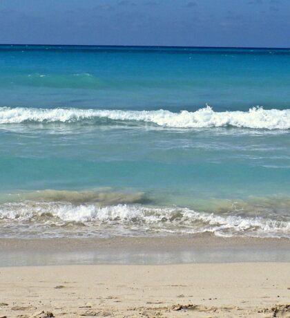 sky.. meets sea.. meets sand....hello ! Sticker