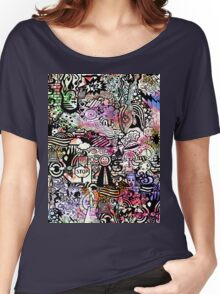 ironic chaos -  (black and white with color) Women's Relaxed Fit T-Shirt