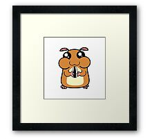 Cartoon Hamster Framed Print