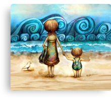 Beachcombers Canvas Print