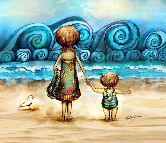 Beachcombers by © Karin (Cassidy) Taylor