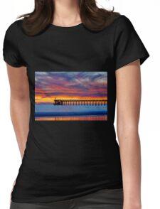 Bacara (Haskell's ) Beach and pier, Santa Barbara Womens Fitted T-Shirt