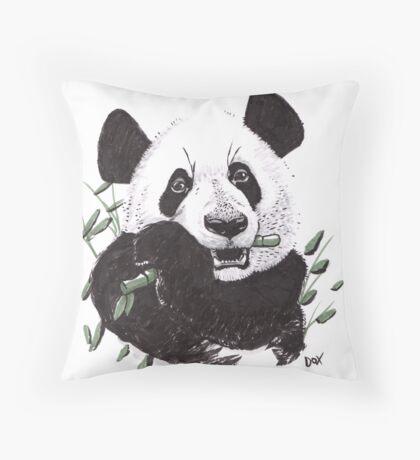 Hungry Panda Throw Pillow