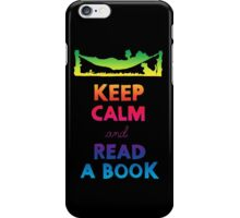 KEEP CALM AND READ A BOOK (RAINBOW) iPhone Case/Skin