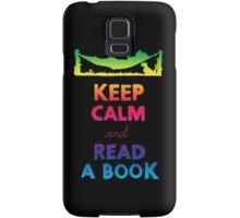 KEEP CALM AND READ A BOOK (RAINBOW) Samsung Galaxy Case/Skin