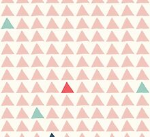 Triangles - Pink Tangerine by solnoirstudios
