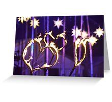 Burning love Greeting Card