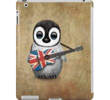 Baby Penguin Playing British Flag Guitar iPad Case/Skin