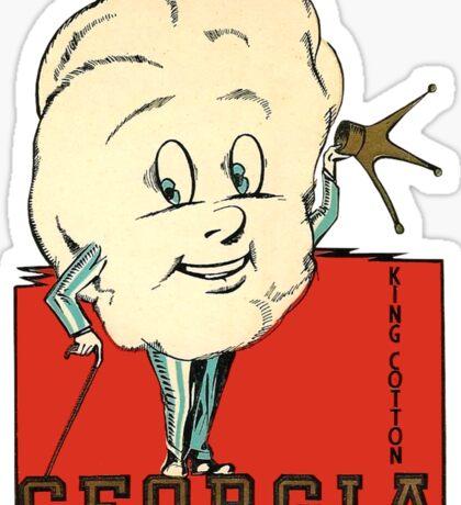Georgia King Cotton Vintage Travel Decal Sticker