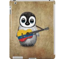 Baby Penguin Playing Colombian Flag Guitar iPad Case/Skin