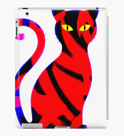 Sly Cat Red iPad Case/Skin